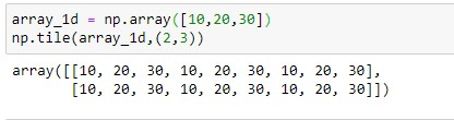 repeating array over rows and columns for 1d array