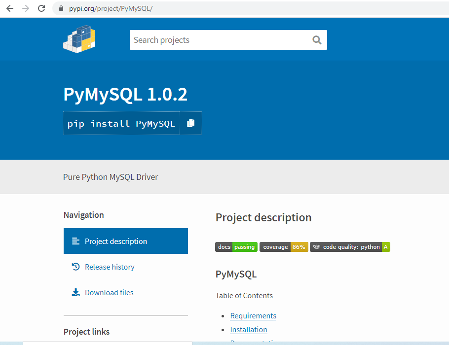 importerror no module named mysqldb