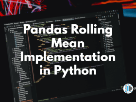 Pandas Rolling Mean Implementation in Python