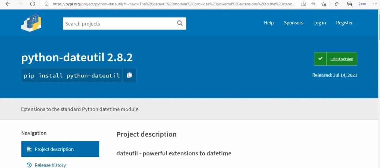 importerror no module named dateutil pip