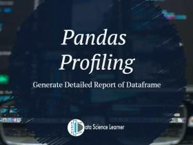 Pandas Profiling detailed report of dataframe
