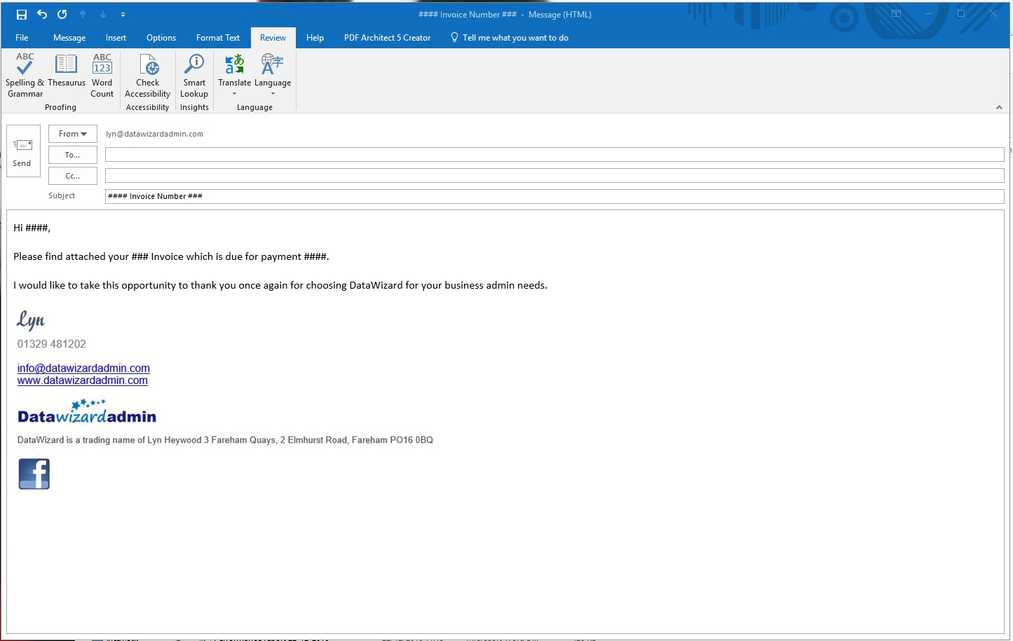 View and open an email template. Blank Email Template