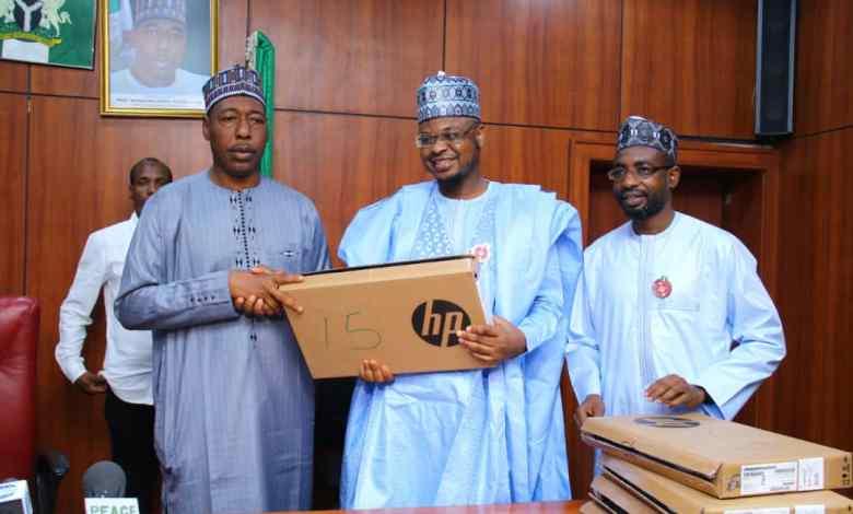 NITDA distributes 100 laptop computers to Borno State govt