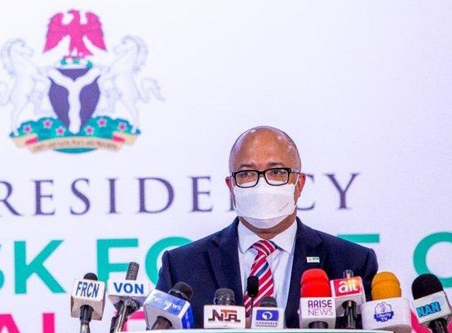 Director General of the Nigeria Centre for Disease Control (NCDC) Dr. Chikwe Ihekweazu during a briefing by the Presidential Task Force on Covid-19