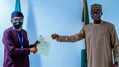 Photo of Gbajabiamila hosts Jibrin, congratulates him on FHA appointment