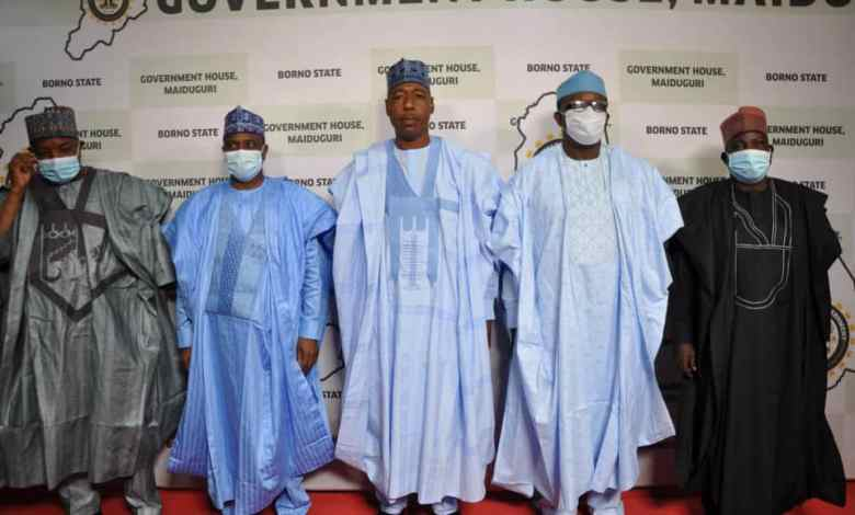 governors visited Borno State Governor, Babagana Zulum