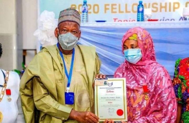 Ganduje's wife becomes Fellow Nigerian Institute of Management