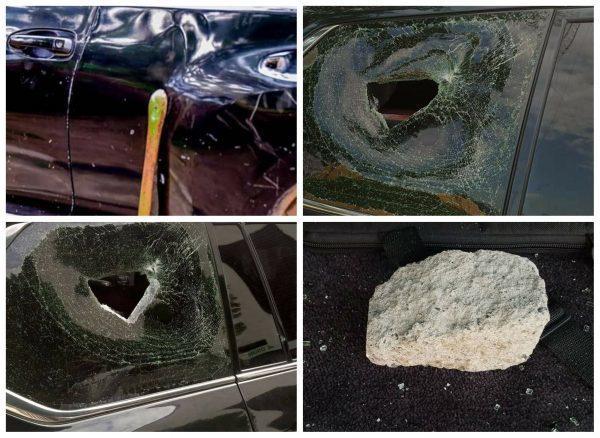 Photos of alleged attack on Osun Governor Gboyega Oyetola's convoy
