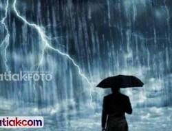 Perkiraan Cuaca Sumbar, Sebagian Daerah Diguyur Hujan Lebat