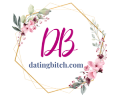 Dating Bitch Floral Logo with White Background