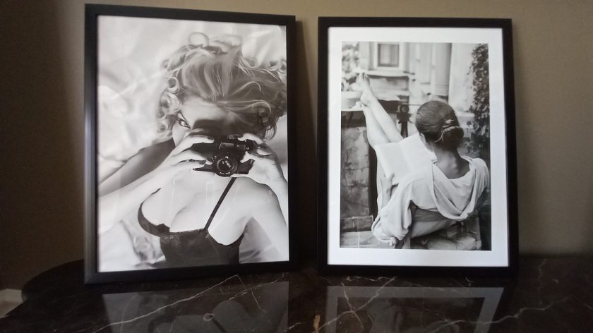 Poster Store Prints - Vintage Camera Girl and Reading Poster