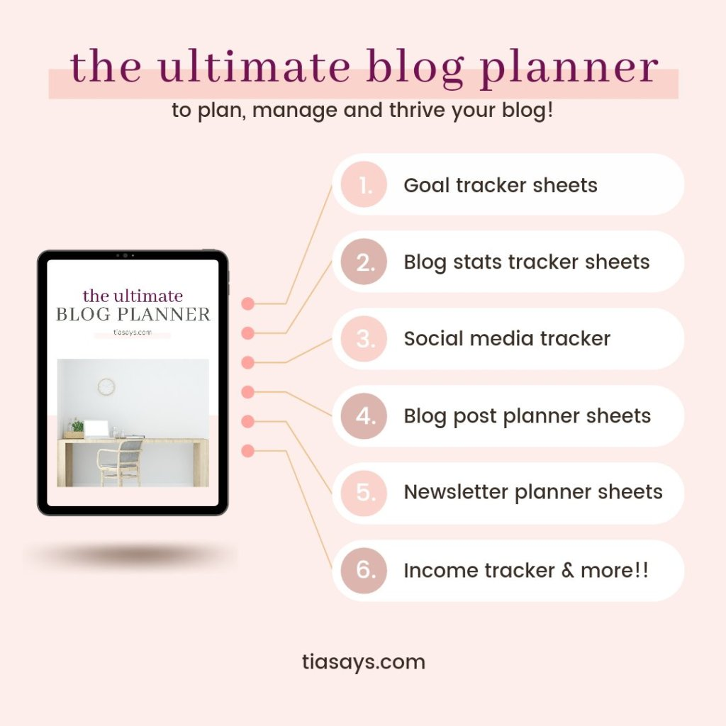Ultimate Blog Planner from Tia Says