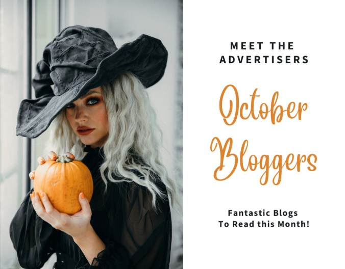 Meet the Advertisers - October Bloggers