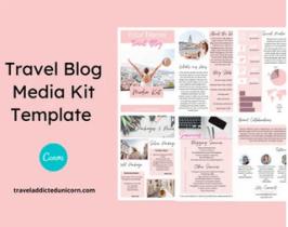 Travel Blog Media Kit Template