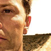 Traveler on dirt road