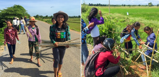 Photograph taken before the current health crisis. In 2019, a group of young adolescents in the Cambodian village of Okcheay set out to plant trees along a patch of road to improve air quality and provide shelter from the heat.