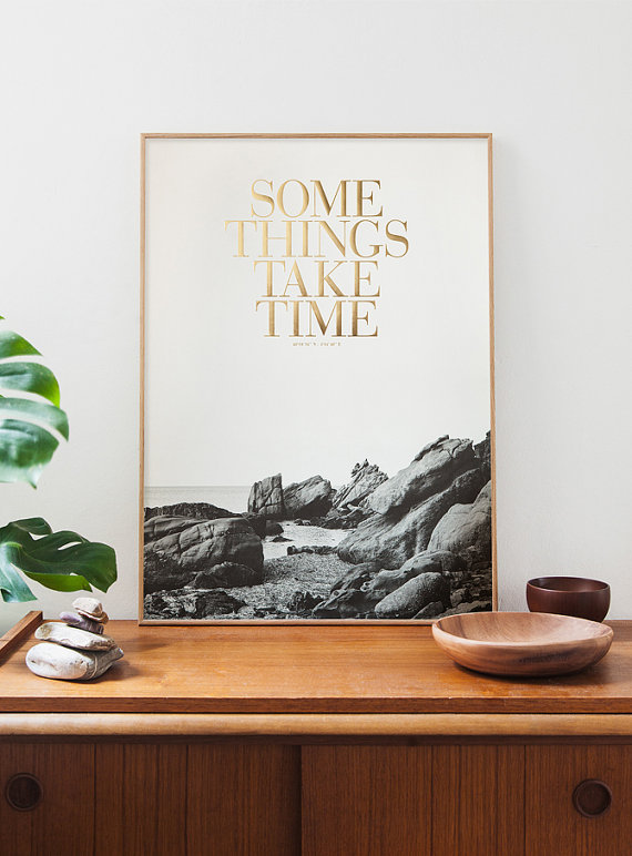 Congo studio, Etsy, some things take time print, some things take time, wall art