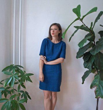 Kertis, Indigo Dyed Linen Shift Dress, handmade dress, etsy shop, jessica ulrich, kertis interview