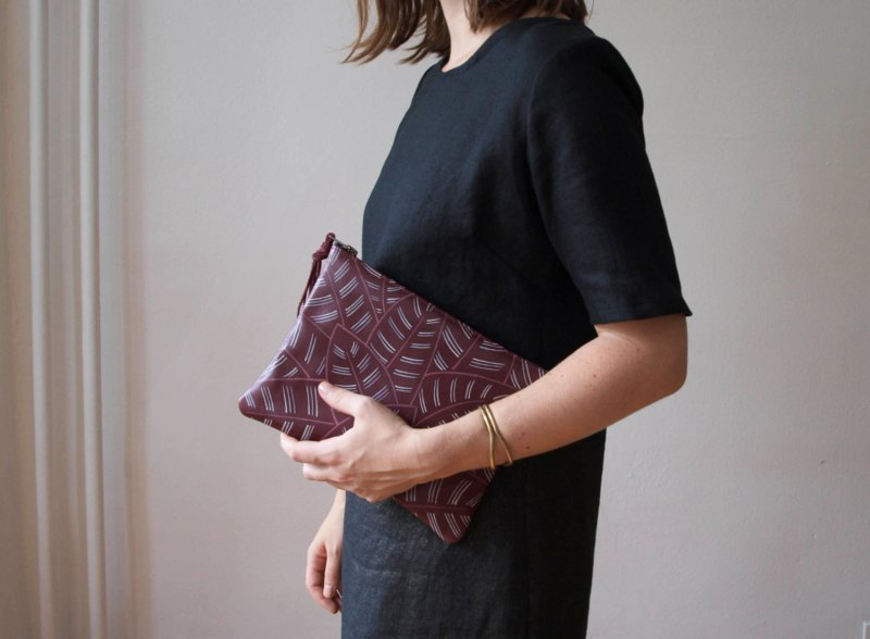 kertis, clutch, etsy, handmade goods, jessica kertis, leather clutch, handmade goods