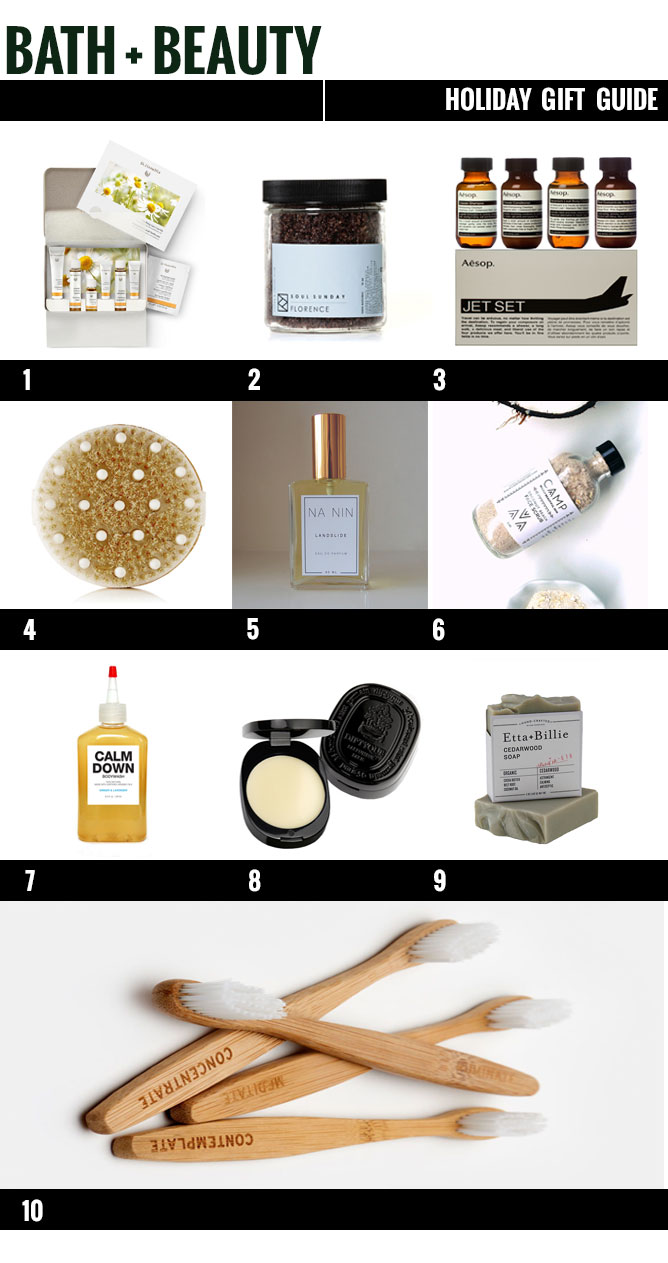 blog gift guide, gift guide, holiday gift guide, bath and beauty, bath and beauty gift guide