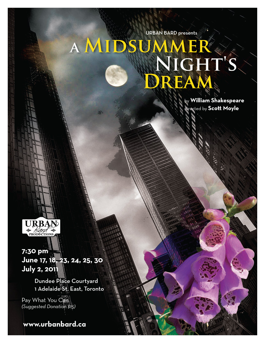 Poster for Urban Bard's Midsummer Night's Dream