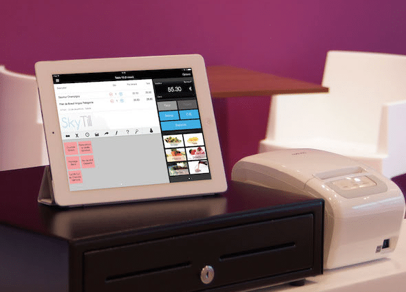 Skytill caisse sur iPad