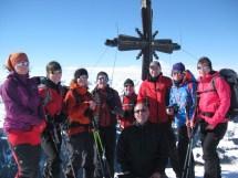 Schneeschuhgruppe eins auf dem Schwarzkogel