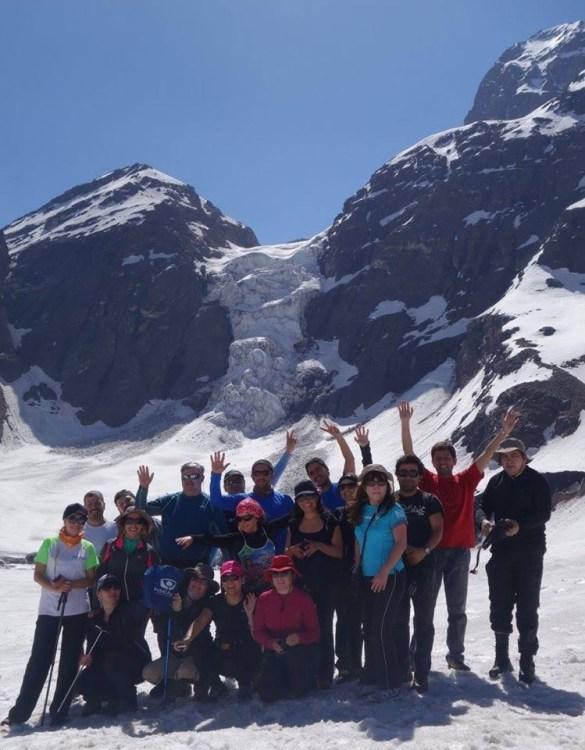 Glaciar Colgante El Morado 15 nov 2014