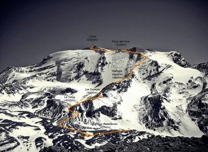 Cerro El Plomo por Ruta Normal , sábado 5 a lunes 7 del 2020.