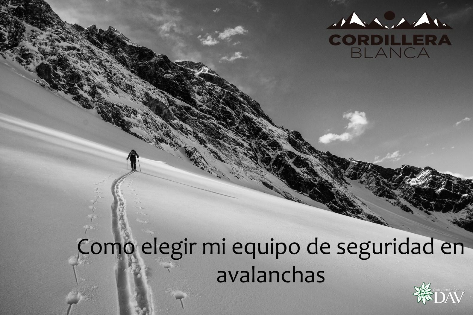 """Taller """"Cómo elegir mi equipo de seguridad en avalanchas"""" por Cordillera Blanca"""