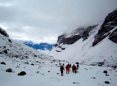 Trekking con raquetas de nieve junto al Club Ayüwn / 20 de Agosto
