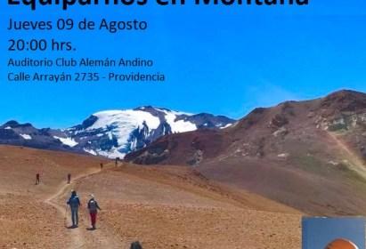 Charla Cómo Vestirnos y Equiparnos en Montaña – 9 de Agosto