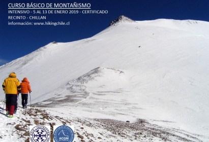 Curso Básico de Montañismo Hiking Chile, Enero 2019 Chillan