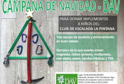 Campaña de Donaciones al Club de Escalada La Pintana