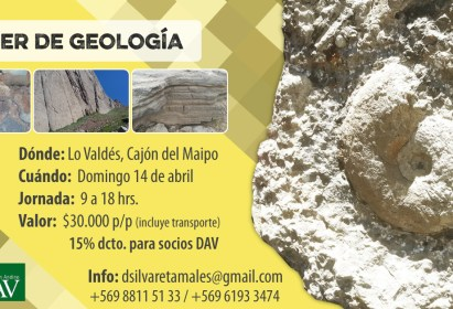 Taller de Geología domingo 14 de abril