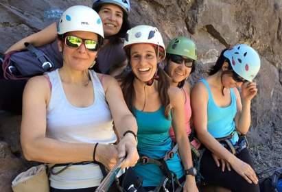 Taller de escalada para mujeres en el DAV