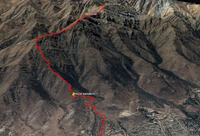 Ascenso cerro La Cruz – 5 de mayo
