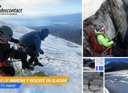 CURSO MARCHA Y RESCATE SOBRE GLACIAR ANDESCONTACT – Marzo 2020