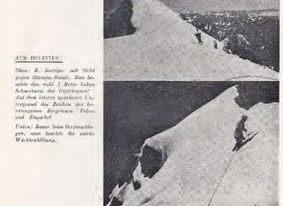 Segundo Ascenso al Huayna Potosí (6094 m) – Traducción del relato de 1943