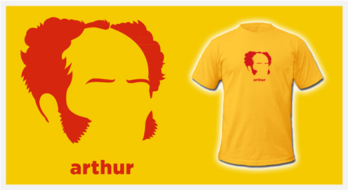An awesome Schopenhauer t-shirt.
