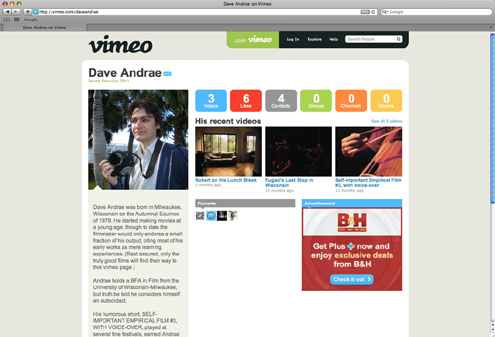 Dave Andrae's page on Vimeo