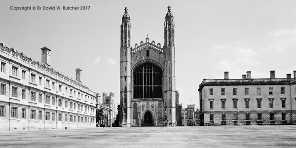 Cambridge Clare College and King's College Chapel, England