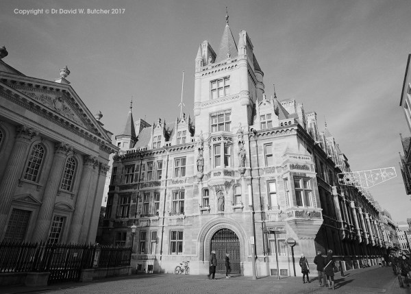 Cambridge Gonville and Caius College and Senate House, England
