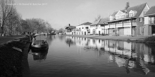 Cambridge River Cam Boathouse Reflections, England