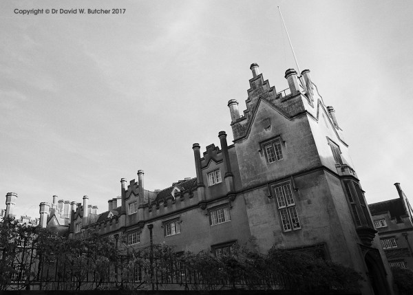 Cambridge Sidney Sussex College Entrance, England