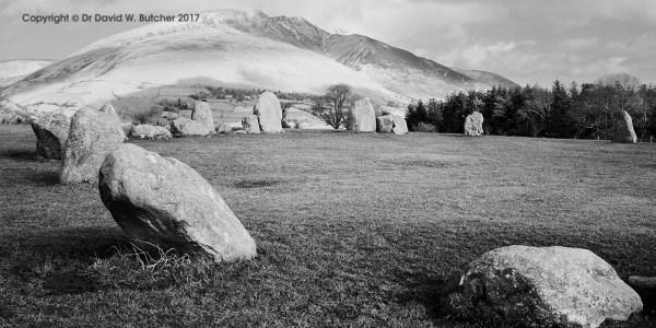 Blencathra from Castlerigg Stone Circle, Keswick, Lake District