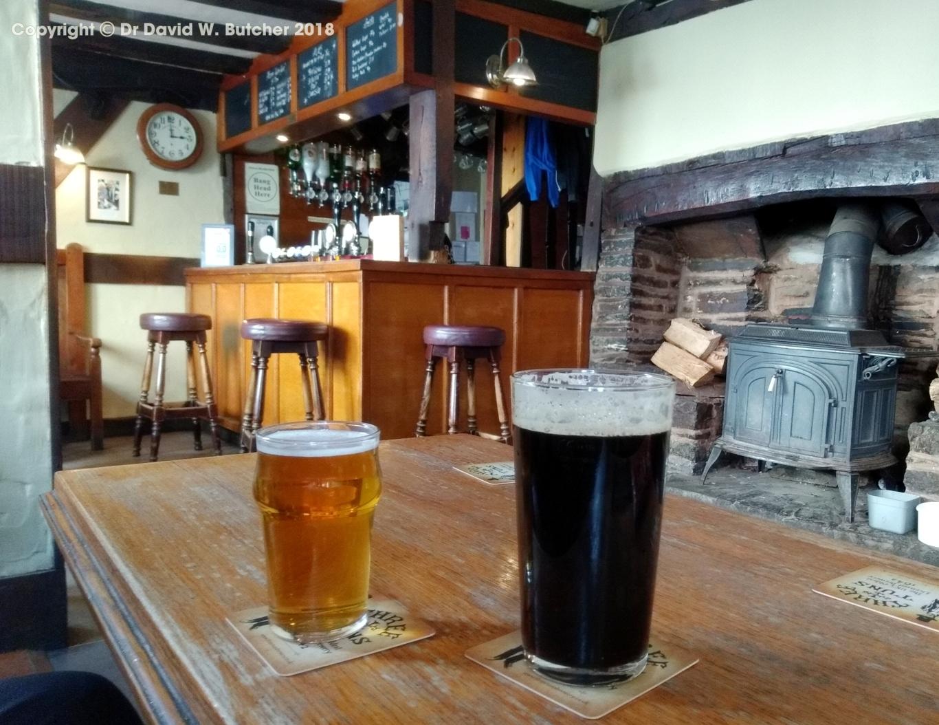 Interior of 3 Tuns pub, Bishop's Castle, Shropshire