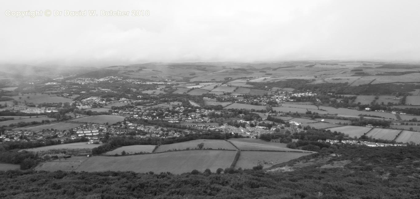 View from Eildon Hills near Melrose