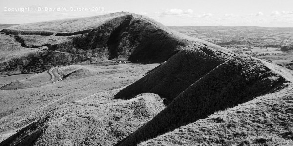 Mam Tor from Rushup Edge in Summer, Peak District