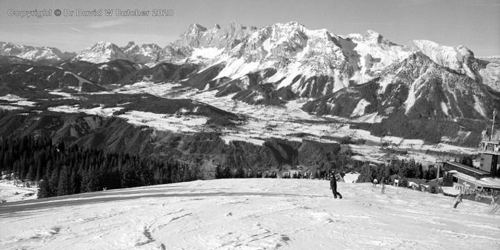 Schladming Planai View to Dachstein Mountains, Austria